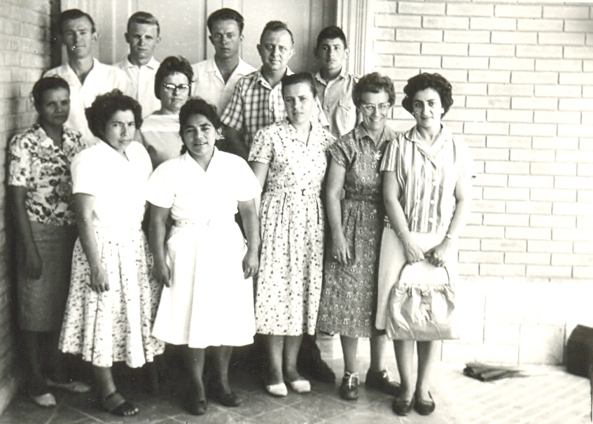 1962 maestros de Esc Bíb de Vac y miembros del Consejound Gemeindevorstand